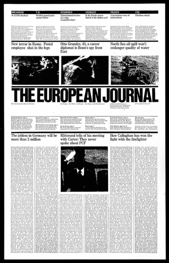 Massimo Vignelli 1931-2014: The European Journal Proposed Layout, c. 1978.