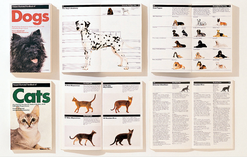 Massimo Vignelli 1931-2014: Cats and Dogs Guides designed by Massimo Vignelli, 1985.