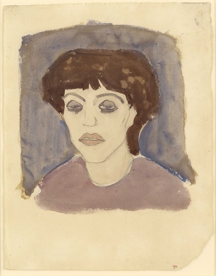 Modigliani: Your real duty is to save your dream: Portrait of Maud Abrantès 1908 Watercolour with traces of black crayon 41 x 32 cm Courtesy: Richard Nathanson, London