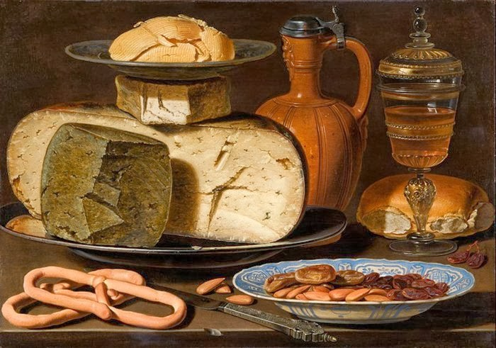 Clara Peeters Still Life With Cheeses Almonds And