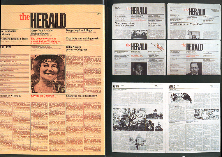 Massimo Vignelli 1931-2014: The Herald  (New York) Pages Layout, 1971.