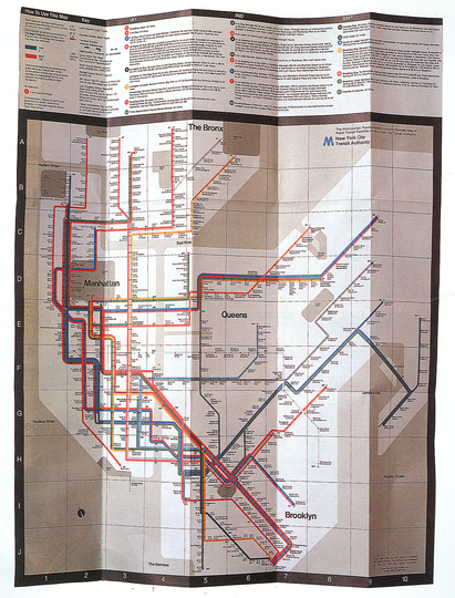 Massimo Vignelli 1931-2014: The New York City Subway Map, 1970.