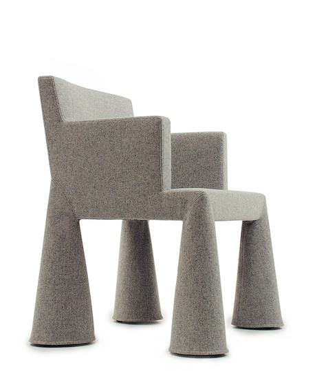 Marcel: Marcel Wanders, Moooi, VIP Chair, 2000  Moooi, fire retardant foam covered steel frame, wool, polyamide
