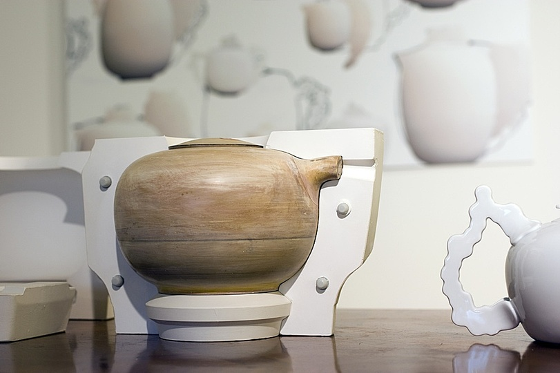 Urquiola for Rosenthal: Casting form made from shellack for tea pots.