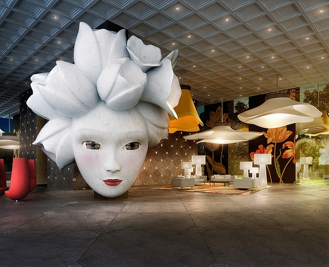 Marcel: Marcel Wanders, Design for lobby Quasar apartment building, Istanbul, Turkey (to be opened in 2015)