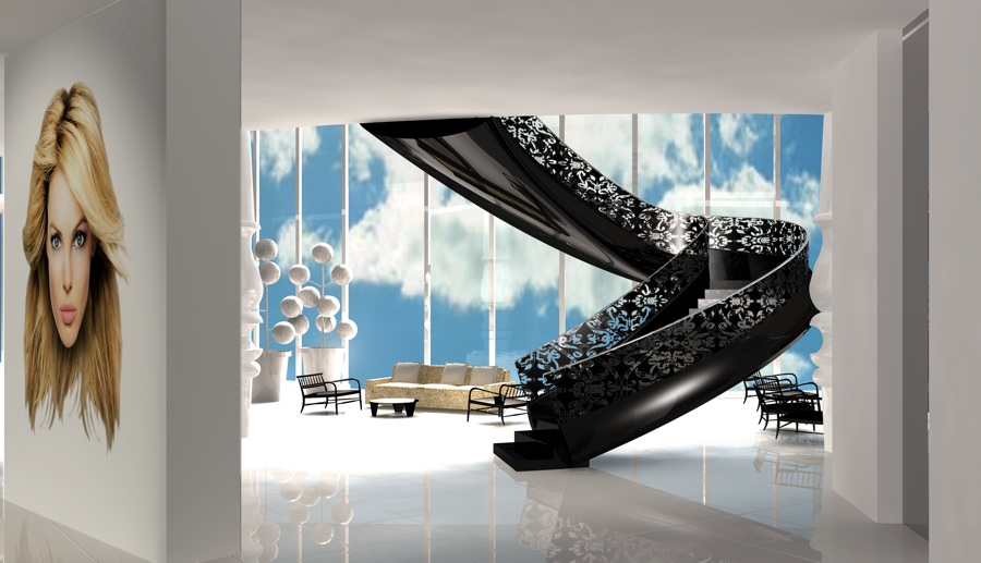 Marcel: Marcel Wanders, Lobby Mondrian South Beach Miami Hotel for Morgans Hotel Group, Miami.