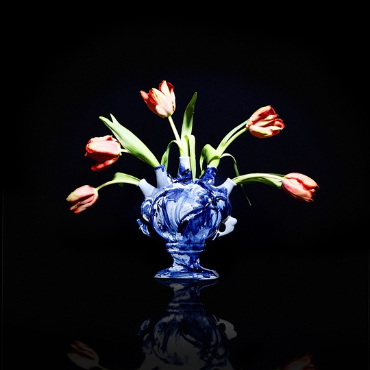 Marcel: Marcel Wanders, One Minute Delft Blue, tulip vase, 2006  Personal Editions, painted and glazed ceramic