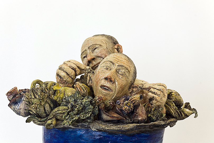 Body & Soul: Saverio Lucariello, Tripode, 2010, Glazed earthenware. Photo: Courtesy of the artist.