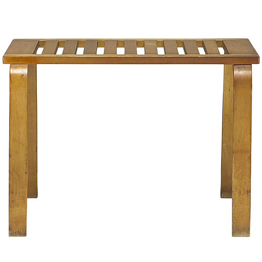 Alvar Aalto furniture: L-Leg bench No 106.