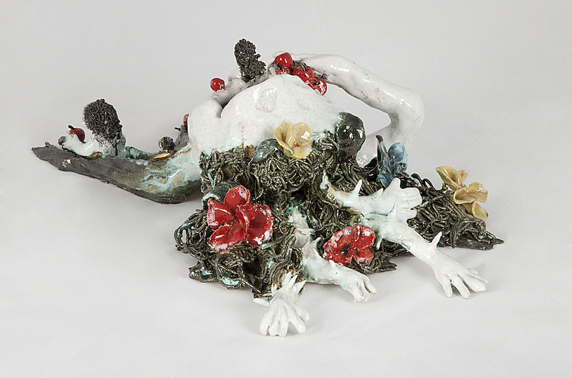Body & Soul: Marlène Mocquet, La Nature Sort de la Bouche (Nature Leaves From the Mouth), 2012, Enameled stoneware.