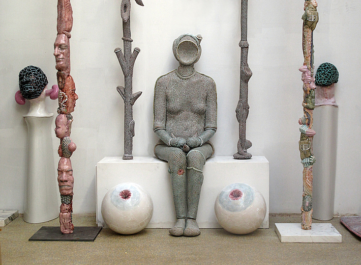 Body & Soul: Michel Gouéry, Riri, 2006, Enameled terra-cotta. Courtesy of Galerie Anne de Villepoix, Paris. Photo: Photo courtesy of the artist.