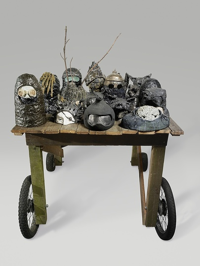 Body & Soul: Coline Rosoux, L'Assaut (The Assault), 2010, Earthenware, wood.  Photo: Courtesy of the artist.