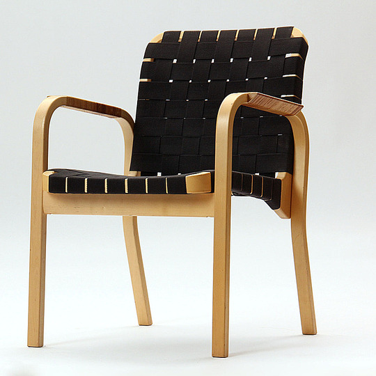 Alvar Aalto furniture: Arm chair.