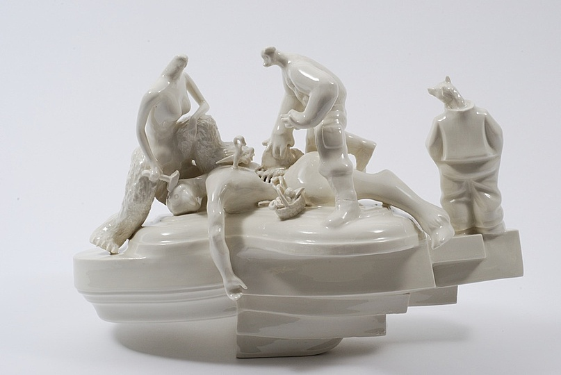 Body & Soul: Louise Hindsgavl, The Volunteer, 2013, Porcelain. Courtesy of the artist. Photo: Anders Sune Berg.