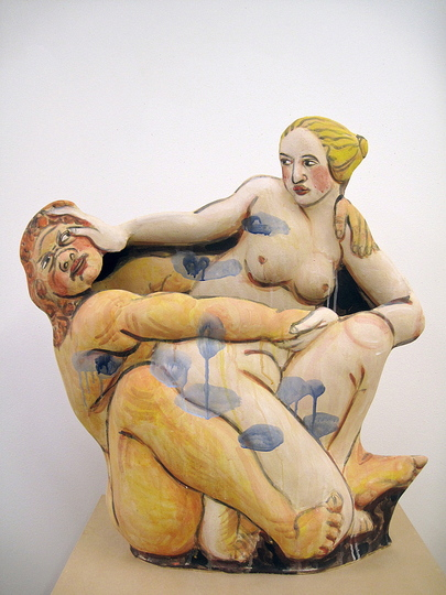 Body & Soul: Akio Takamori, Nymph and Satyr, 2011, Stoneware with underglazes. Courtesy of Barry Friedman Ltd., New York; Photo: Vicky Takamori.