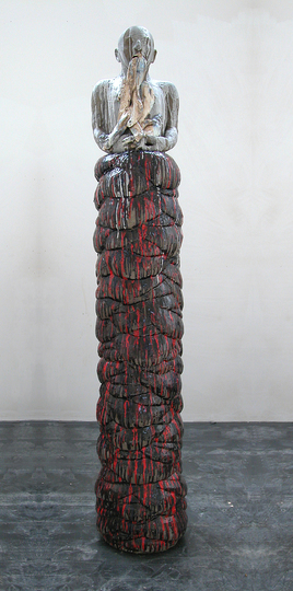 Body & Soul: Anne Rochette, Figure de l'Amont (pour M) #2 [Upstream and down (for M) #2], 2010, Glazed earthenware. Courtesy of the artist.