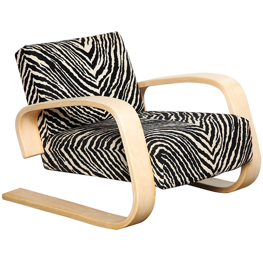 Alvar Aalto furniture: Bleached maple arm chair.