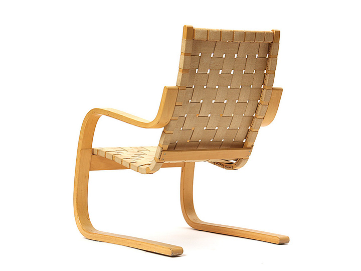 Alvar Aalto furniture: High-back armchair.