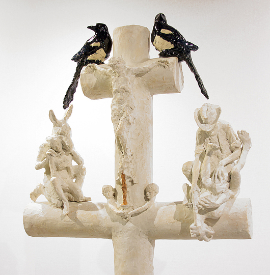 Body & Soul: Laurent Esquerré, Le Calvaire (Calvary), 2010, Earthenware. Courtesy of the artist. PHOTO CREDIT: Bertrand Hugues.