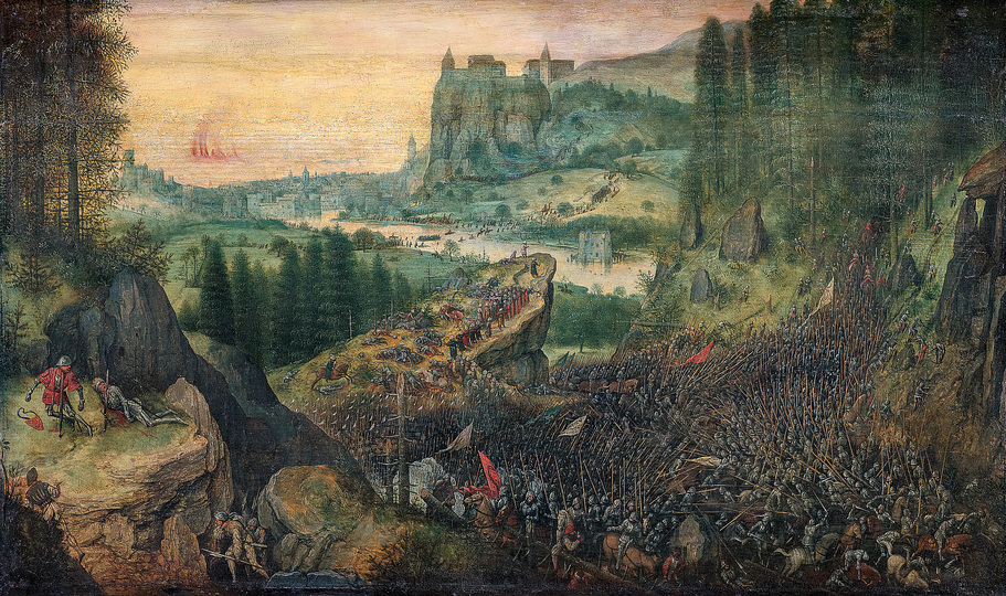 Pieter Bruegel: Pieter Bruegel the Elder (c. 1525/30 Breugel or Antwerp? – 1569 Brussels) The Suicide of Saul 1562, oak panel, 33.5 × 55 cm Kunsthistorisches Museum Vienna, Picture Gallery © KHM-Museumsverband