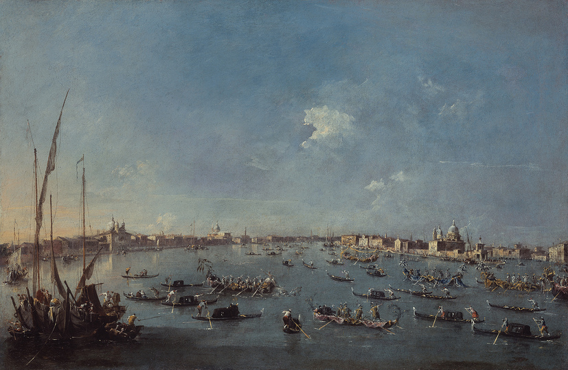 Venice without Tourists: Francesco Guardi (1712-1793), Regatta on the Giudecca Canal, c. 1784/89 © Bayerische Staatsgemäldesammlungen, Alte Pinakothek, Munich/On permanent loan of the Collection HypoVereinsbank, Member of UniCredit