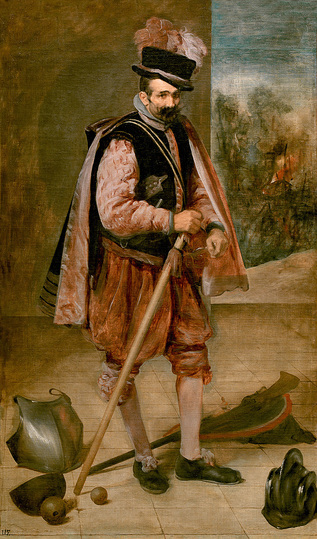 Diego Velázquez: Don't be fooled by glittering armours and weapons by the model's feet and be led to think that this man is a  military hero. Don Juan de Austria was a jester at the court of King Philip IV. Velázquez liked to cross boundaries between reality and illusion and to play with  paradoxes. Diego Velázquez, Don Juan de Austria, c. 1633, Oil on canvas, 210 x 123 cm © Madrid, Museo Nacional del Prado
