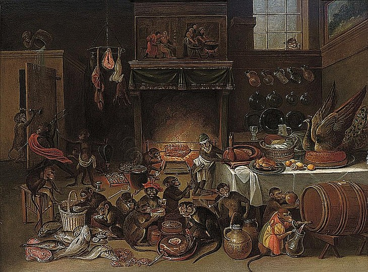 Formerly attributed to Ferdinand van Kessel (1648–1696)(Apes ...