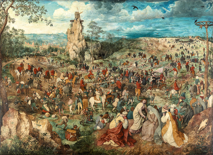 Pieter Bruegel: Pieter Bruegel the Elder (c. 1525/30 Breugel or Antwerp? – 1569 Brussels) Christ Carrying the Cross 1564, oak panel, 124 × 170 cm Kunsthistorisches Museum Vienna, Picture Gallery © KHM-Museumsverband