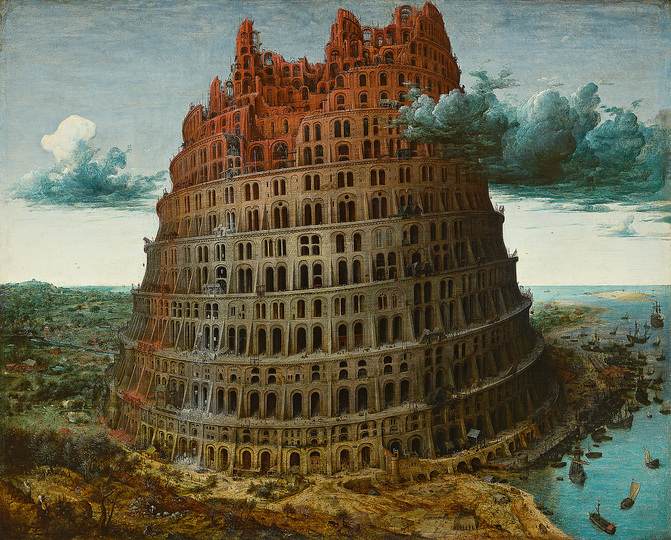 Pieter Bruegel: Pieter Bruegel the Elder (c. 1525/30 Breugel or Antwerp? – 1569 Brussels) The Tower of Babel after 1563?, oak panel, 59,9 × 74,6 cm Rotterdam, Museum Boijmans Van Beuningen © Museum Boijmans Van Beuningen, Photograph: Studio Tromp, Rotterdam
