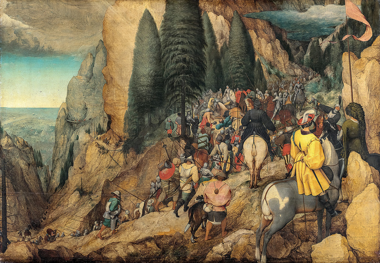 Pieter Bruegel: Pieter Bruegel the Elder (c. 1525/30 Breugel or Antwerp? – 1569 Brussels) The Conversion of Saul 1567, oak, 108 x 156 cm Kunsthistorisches Museum Vienna, Picture Gallery © KHM-Museumsverband