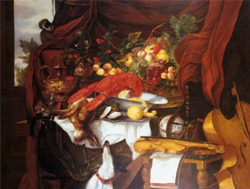 U_71_705227391411_Andries_Benedetti_Still_life_with_fruit_lobster_oysters_hunting_trophies_musical_items_and_a_monkey1646..jpg