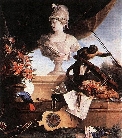 Still Life Monkeys: Jean-Baptiste Oudry, Allegory of Europe, 1722. (allegorical painting)