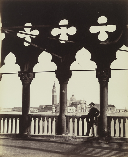 Venice without Tourists: Carlo Naya (1816-1882), View of San Giorgio from the Gallery of the Ducal Palace, c. 1865, Albumen paper © Bayerische Staatsgemäldesammlungen/Collection Dietmar Siegert