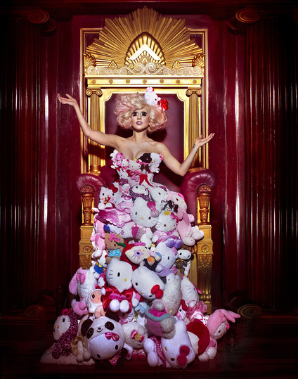 Hello Kitty Culture: Hello Kitty x Lady Gaga Plush Dress, 2009. Photo Credit: Markus + Indrani, styled by GK Reid