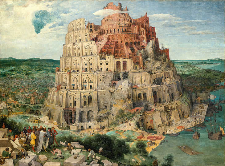 Pieter Bruegel: Pieter Bruegel the Elder (c. 1525/30 Breugel or Antwerp? – 1569 Brussels) The Tower of Babel 1563, oak panel, 114 × 155 cm Kunsthistorisches Museum Vienna, Picture Gallery © KHM-Museumsverband