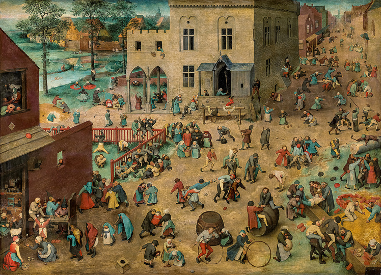 Pieter Bruegel: Pieter Bruegel the Elder (c. 1525/30 Breugel or Antwerp? – 1569 Brussels) Children's Games 1560, oak panel, 118 × 161 cm Kunsthistorisches Museum Vienna, Picture Gallery © KHM-Museumsverband
