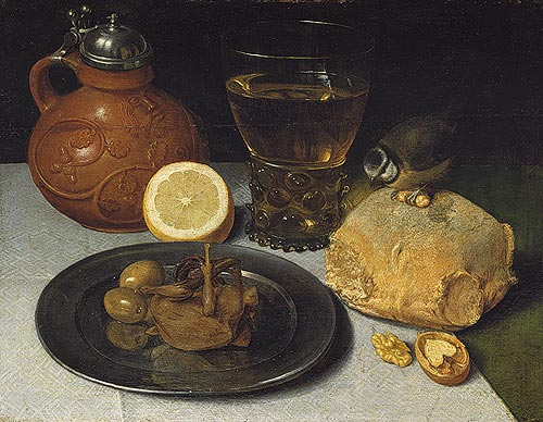 Georg Flegel: Still Life Painter: Still Life, Oil on wood; 10 5/8 x 13 3/8 in. (27 x 34 cm) Gift of Dr. W. Bopp, 1921 (21.152.1). Metropolitan Museum of Art.