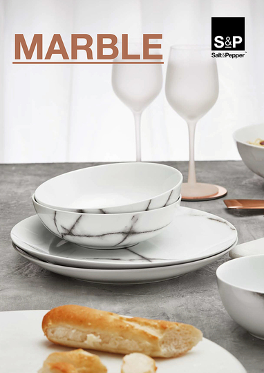 Serve Up!: MARBLE Salt&Pepper collection is about refinement and class. The elegant product range creates a luxurious look and adds that final touch to your dinner table. It's Fashion For Your Home! Designer : Salt & Pepper. Stand name : SALT&PEPPER. Show : MAISON&OBJET. Copyright : Aerts NV 2014