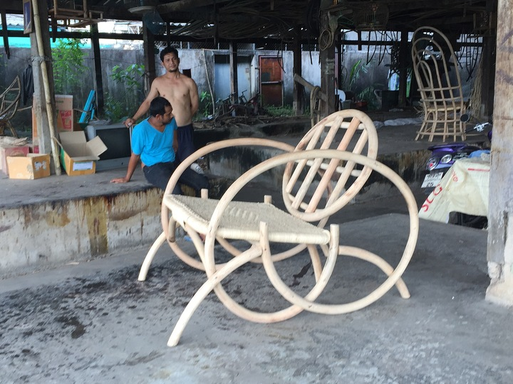 Thai Silk and Rattan: Constructing the lounge chair