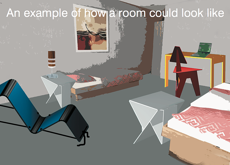 The future of traveling - Projects: A concept for foldable hotel room interiors in pop-up hotels.