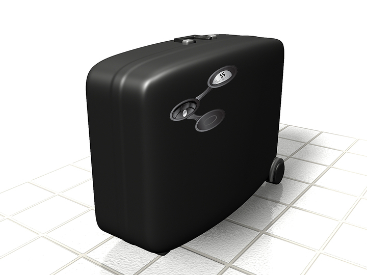 The future of traveling - Projects: No more lost luggage by Michael Petersen: A suitcase sensitive to movement and with Fingerprint scanner.