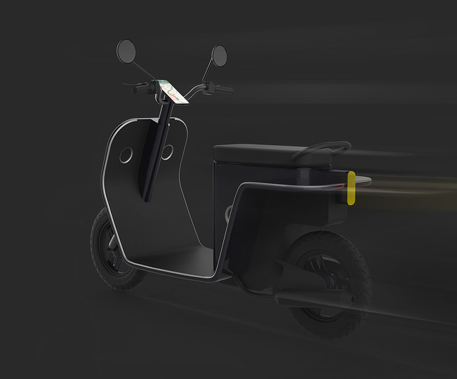 Hybrid urban scooter:
