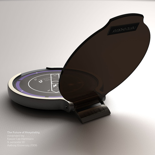 The future of traveling - Projects: Kasper Lee Hartmann, now designer at Danish smartphone manufacturer Lumigon,  proposed the anti-compass for travellers who want to escape the ordinary and other tourists.