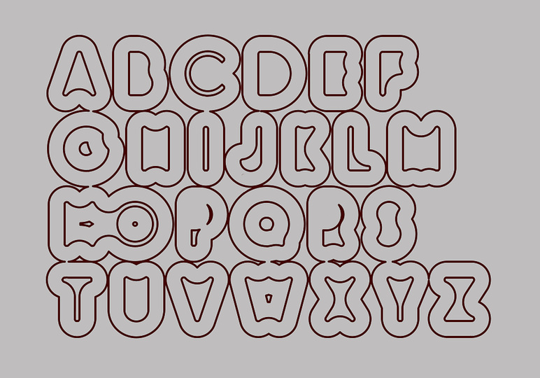 Cellular Letters: outline variations