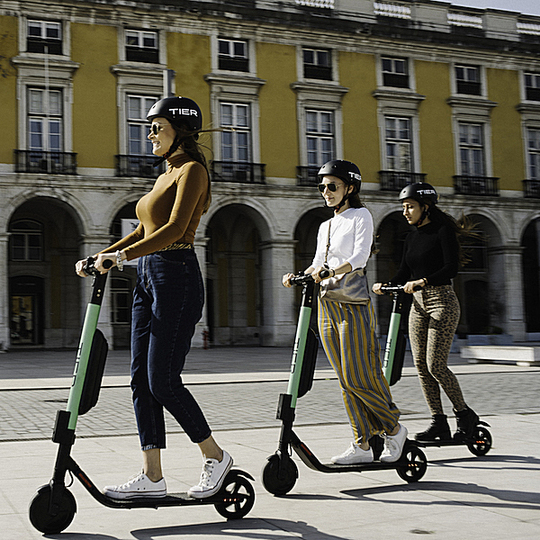 The e-scooter Boom: Tier, Germany's e-scooter-sharing company, uses scooters with small wheels which make them maneuverable, but also come with a higher risk of accidents. Courtesy: Tier Mobility
